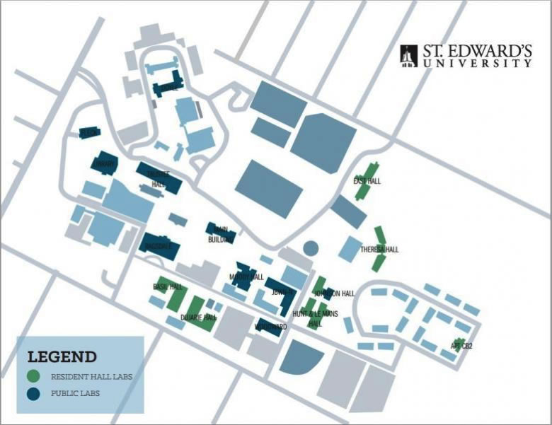 Computer Support | Navigating New College on sweet briar campus map, texas lutheran campus map, stanford campus map, delta state campus map, north lamar campus map, william carey campus map, george mason campus map, chico state campus map, cardinal newman campus map, trinity campus map, pittsburg state campus map, upper iowa campus map, university of texas campus map, baylor campus map,