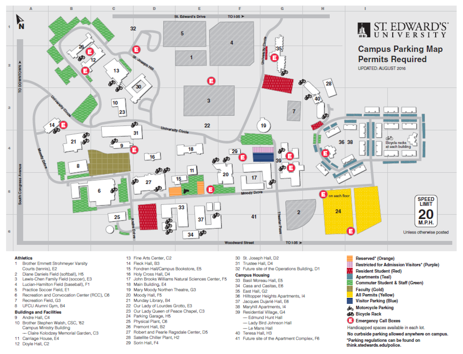 Lourdes University Campus Map.Campus Map Navigating New College